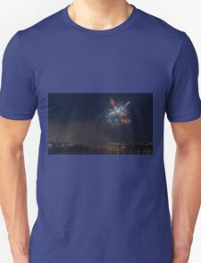 Fireworks at night in summer Unisex T-Shirt