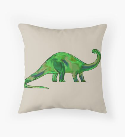 Dinosaur Brontosaurus 11G Throw Pillow