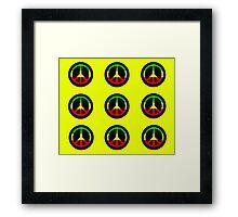 Reggae Peace Symbols Framed Print