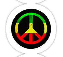 Reggae Peace Symbols Sticker