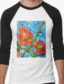 jacqui's flower Men's Baseball ¾ T-Shirt