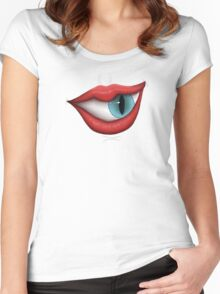 Monster - Blue Women's Fitted Scoop T-Shirt