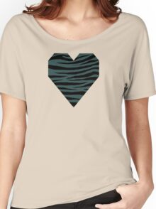 0199 Dark Slate Gray Tiger Women's Relaxed Fit T-Shirt
