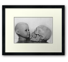 Life leads to death Framed Print