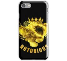 Notorious gold iPhone Case/Skin