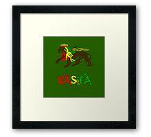 Reggae Rasta, Rastafari Lion 2 Framed Print