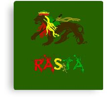 Reggae Rasta, Rastafari Lion 2 Canvas Print