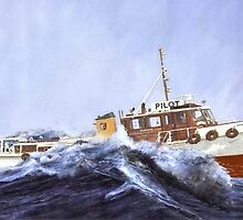 Pilot boat ' Akarana..'...........Just another day at the office ! by Roy  Massicks