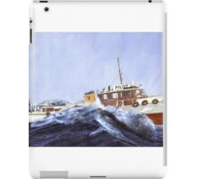 Pilot boat ' Akarana..'...........Just another day at the office ! iPad Case/Skin
