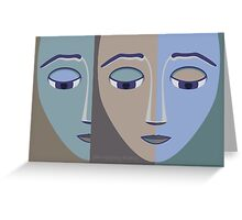 FACES #2 Greeting Card