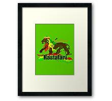 Reggae Rasta, Rastafari Lion 3 Framed Print