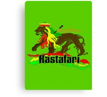 Reggae Rasta, Rastafari Lion 3 Canvas Print