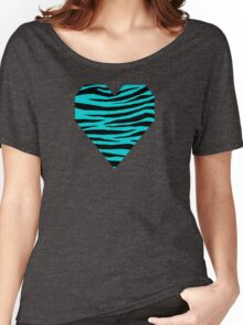 0205 Dark Turquoise Tiger Women's Relaxed Fit T-Shirt