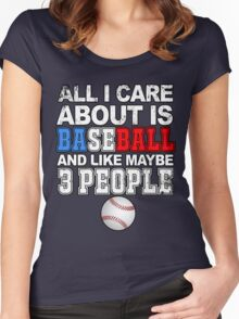 Baseball: All I care about Women's Fitted Scoop T-Shirt