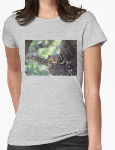 Tree Hugging Squirrel Womens Fitted T-Shirt