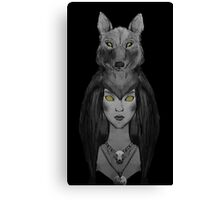 Woman in Wolves Clothing © Canvas Print
