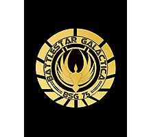 Battlestar Galactica Golden Logo Photographic Print