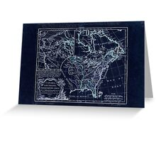 American Revolutionary War Era Maps 1750-1786 360 Canada Louisiane possessions angl Inverted Greeting Card