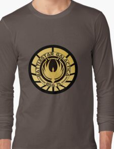 Battlestar Galactica Golden Logo Long Sleeve T-Shirt