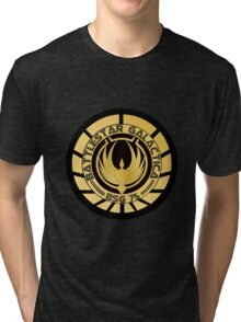 Battlestar Galactica Golden Logo Tri-blend T-Shirt