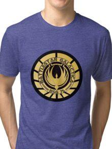 Battlestar Galactica Golden Logo Tri-blend T-Shirt