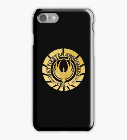 Battlestar Andromeda Golden Logo iPhone Case/Skin