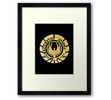 Battlestar Athena Golden Logo Framed Print