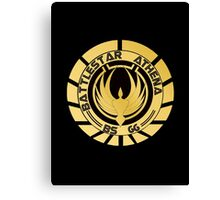 Battlestar Athena Golden Logo Canvas Print