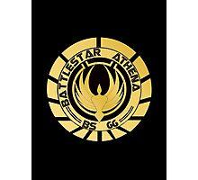 Battlestar Athena Golden Logo Photographic Print