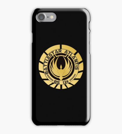 Battlestar Atlantis Golden Logo iPhone Case/Skin