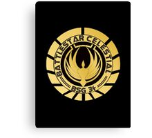 Battlestar Celestial Golden Logo Canvas Print