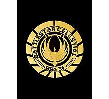 Battlestar Celestial Golden Logo Photographic Print