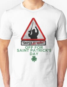 Sniper on hold - Saint Patrick's day Unisex T-Shirt