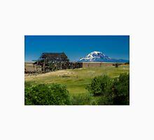 Falling Barn and Mt Adams Unisex T-Shirt