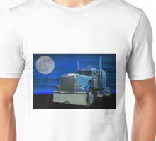 Peterbilt in the Moonlight Unisex T-Shirt