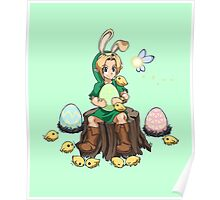 The Easter Bunny Hood Poster