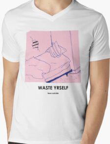 Teen Suicide AKA Julia Brown Waste Yrself Mens V-Neck T-Shirt