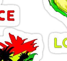 Peace, Love, Reggae Sticker