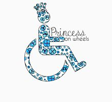 Princess On Wheels (Blue Floral) Women's Relaxed Fit T-Shirt