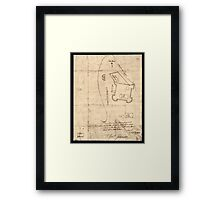 American Revolutionary War Era Maps 1750-1786 864 Sir This is minuts of the fort at Crown Point and of the redouts built round it which I took on the mountain Framed Print