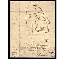 American Revolutionary War Era Maps 1750-1786 864 Sir This is minuts of the fort at Crown Point and of the redouts built round it which I took on the mountain Photographic Print