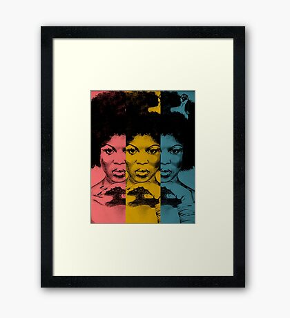 Afro Woman Framed Print