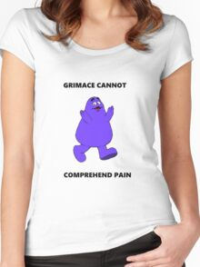 GRIMACE CANNOT COMPREHEND PAIN Women's Fitted Scoop T-Shirt