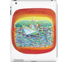 Sailing kids, colorful and imaginative watercolor.  iPad Case/Skin
