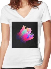 Abstract 38 Women's Fitted V-Neck T-Shirt