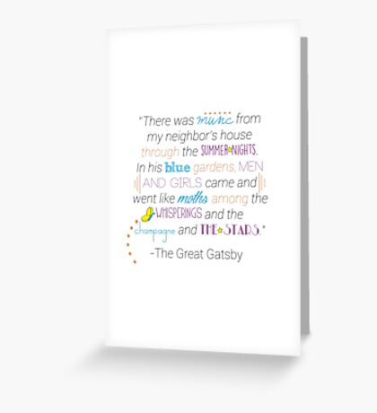 The Great Gatsby Garden Quote Greeting Card