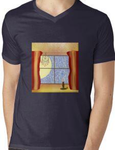 A Warm Winter Refuge - Dreamcatcher and Candle Flame Mens V-Neck T-Shirt