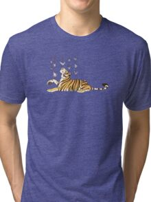 Paper Crane Tiger Tri-blend T-Shirt