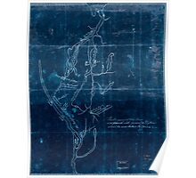 American Revolutionary War Era Maps 1750-1786 528 Fort Edward to Crown Point Inverted Poster