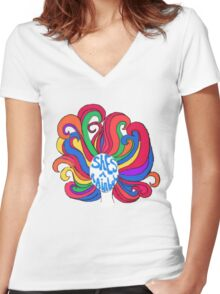 She's a Rainbow Women's Fitted V-Neck T-Shirt